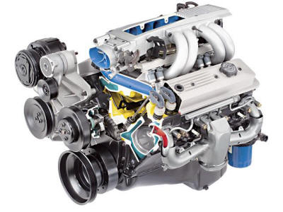 Cutaway of a TPI engine