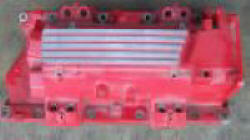 LT4 Intake Manifolds are all powdercoated red from factory