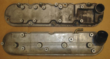 Perimeter bolt valve covers have 9 bolts, all located on the outside perimter (top), while the ceter bolt valve covers have 4 bolts, all in the center (bottom)